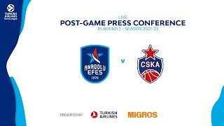 Anadolu Efes - CSKA Moscow #EuroLeague 2021-2022 RS R2 Press Conference