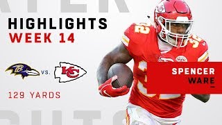 Spencer Ware Highlights vs. Ravens