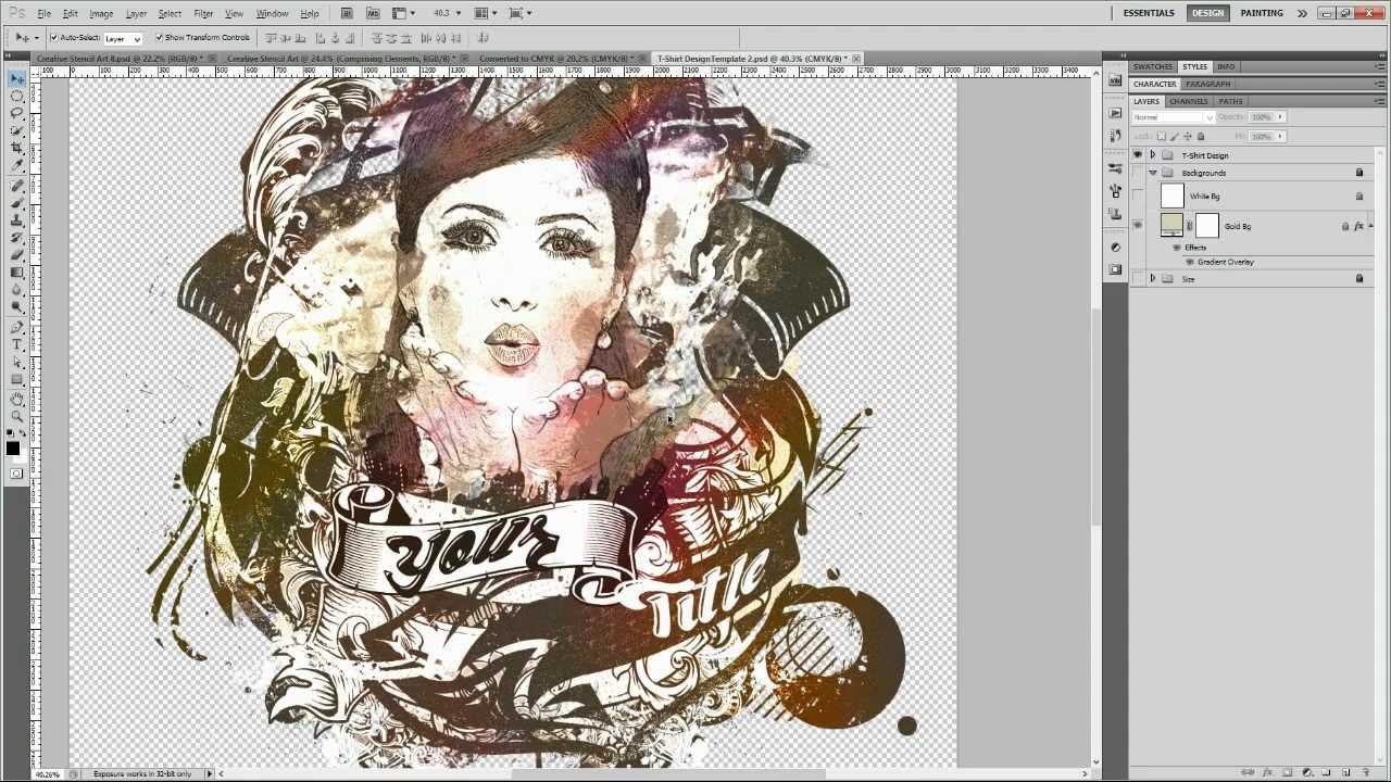 Shirt design kit - Advance T Shirt Design Kit 2 Stencil Fine Art
