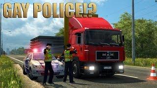 Repeat youtube video ETS2 MAN F90 & POLICE! (Euro Truck Simulator 2)