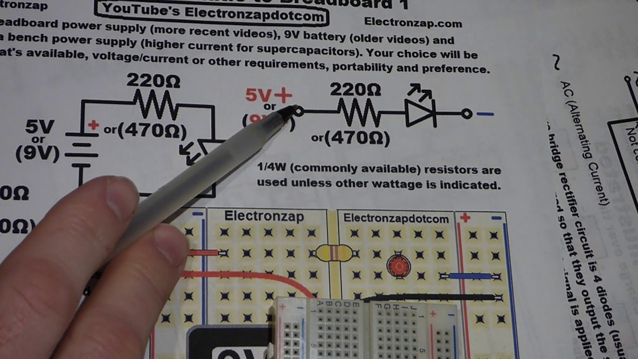 Electronics Schematic To Breadboard 1 Basic Use By Circuit Detail Electronzap
