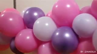 Разнокалиберная гирлянда из шаров || без каркаса || УРОК 1
