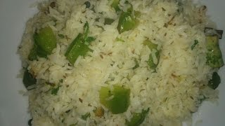 Capsicum rice/easy rice bath recipe - Savita Benur special