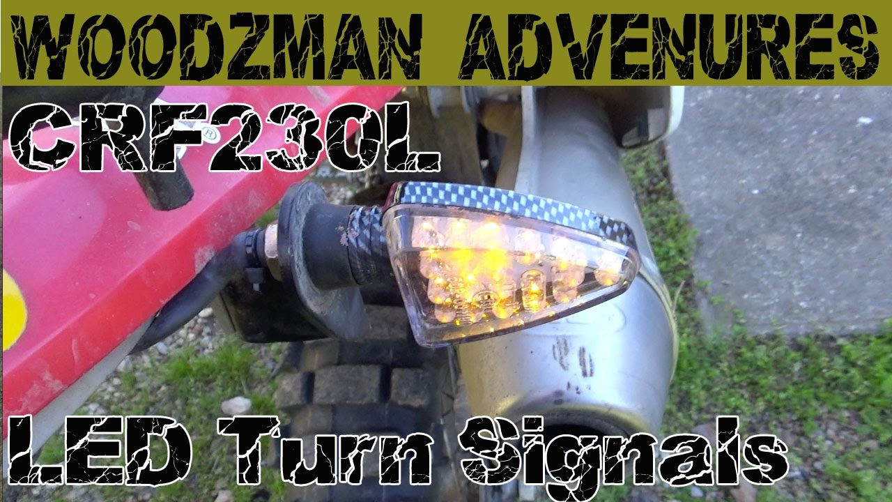 crf230l wiring diagram honda crf230l led turn signals mod youtube  honda crf230l led turn signals mod