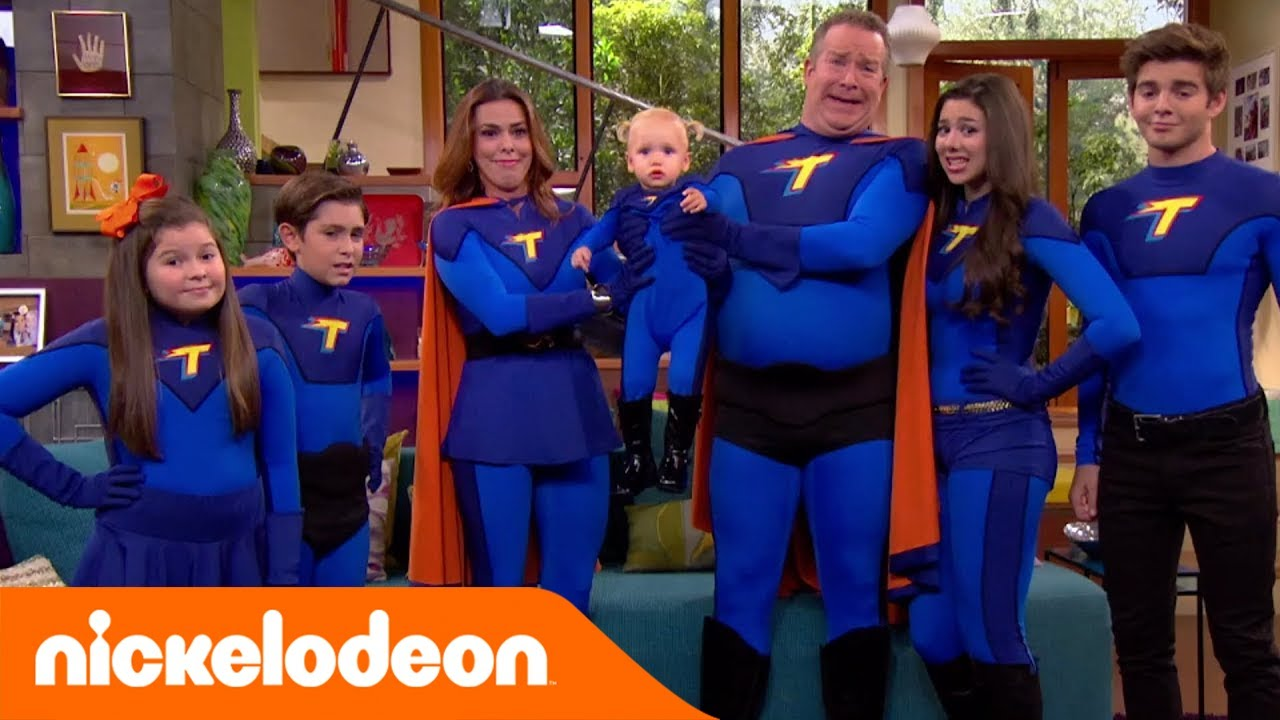 I thunderman foto di famiglia con chloe nickelodeon