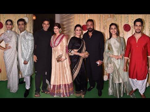 Ekta Kapoor's GRAND Diwali Party 2017  Sanjay Dutt,Akshay Kumar,Arjun Kapoor,Karan Johar