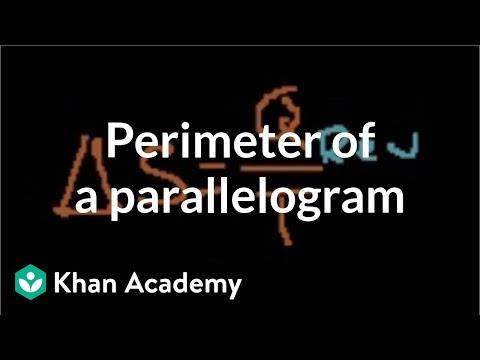 Perimeter of a parallelogram | Perimeter, area, and volume |