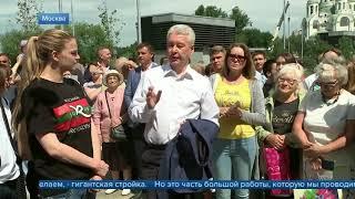 Смотреть видео Мэр Москвы провел технический пуск Солнцевского радиуса метро онлайн