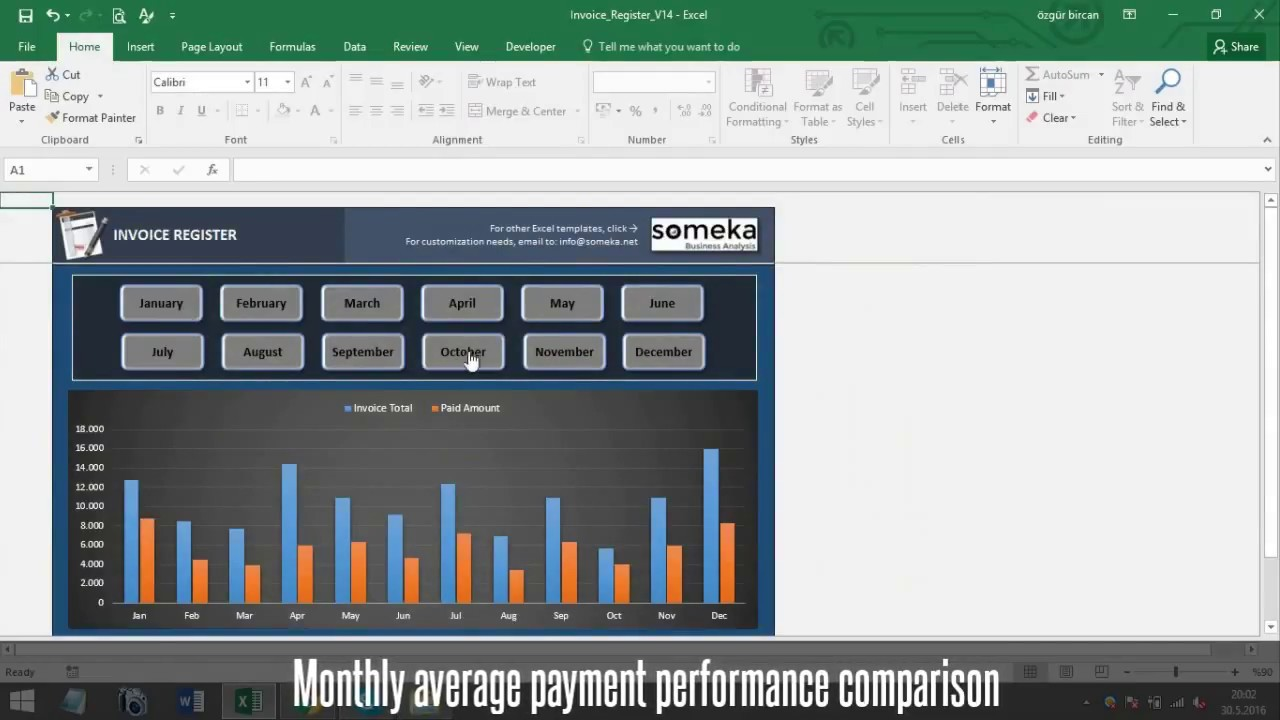 Invoice Tracker Free Excel Template For Small Business Youtube
