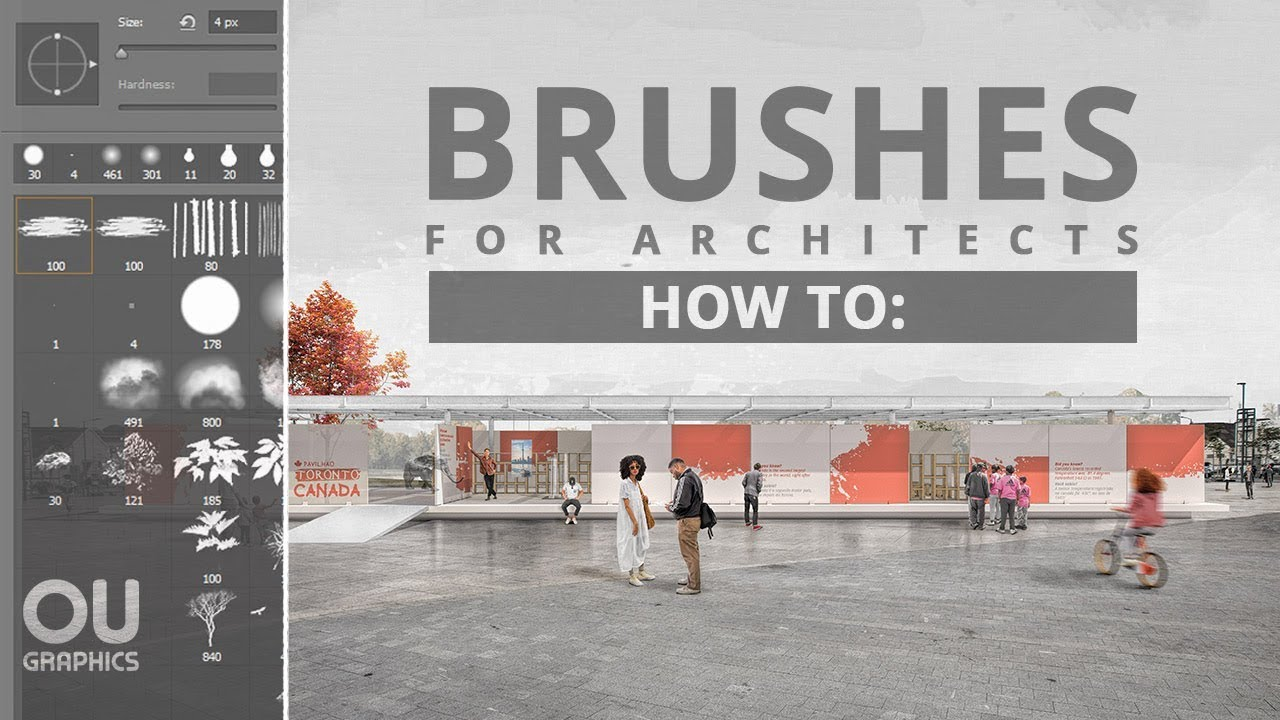 Brushes for Architects in Photoshop - Photoshop Capital
