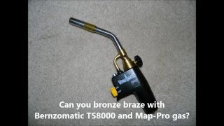Bronze Brazing with the TS8000