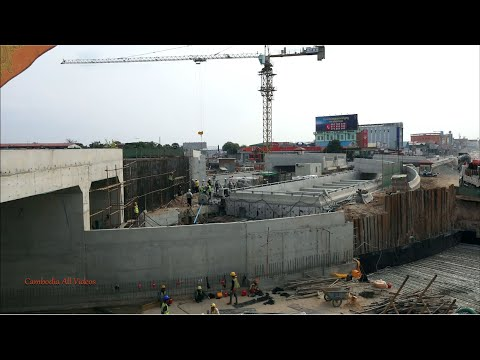 Construction of Chom Chao flyover and subway in Phnom Penh
