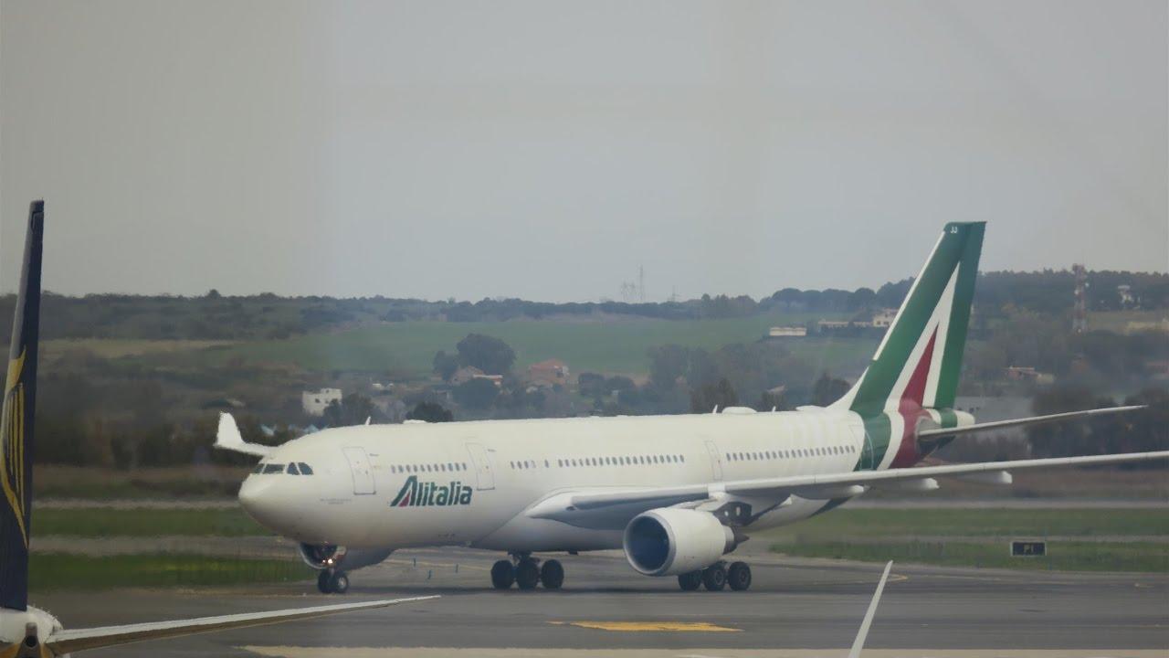 alitalia flights from rome to jfk today
