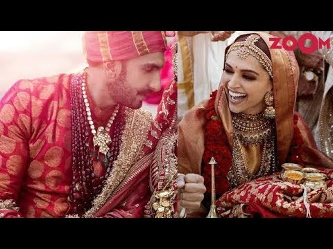 Ranveer wears brocade sherwani for his Sindhi wedding   Deepika drapes Gold silk saree   Style Today