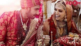 Ranveer wears brocade sherwani for his Sindhi wedding | Deepika drapes Gold silk saree | Style Today