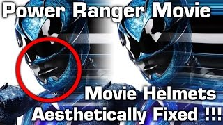 Power Ranger movie helmets aesthetically fixed