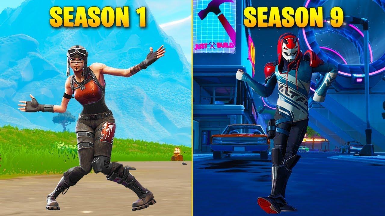 Evolution of Season Dances in Fortnite (Season 1 - Season ...