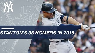 Watch Giancarlo Stanton's 38 home runs from 2018