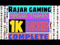 special thanks 1k subs complete, rajar gaming