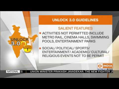 Govt issues UNLOCK 3.0 guidelines; Schools, Colleges to remain closed till August 31st