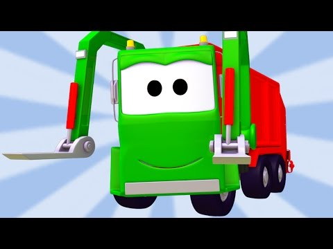 Thumbnail: The Garbage Truck Compilation of Car City : Cars & Trucks construction cartoons for children