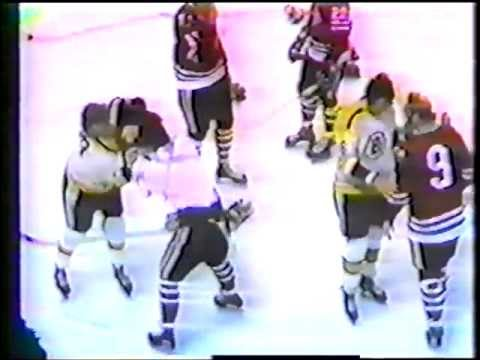 Blackhawks/Bruins Line Brawl