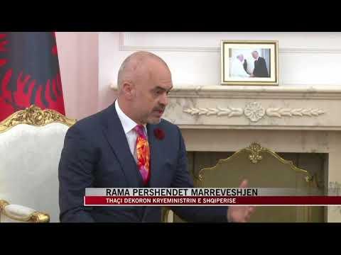 Thaçi dekoron kryeministrin e Shqipërisë Edi Rama - News, Lajme - Vizion Plus