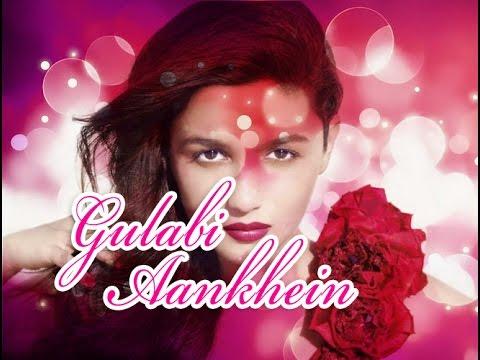 Gulabi Aankhein Jo Teri Dekhi (Unplugged) Sanam Puri version Lyric karaoke