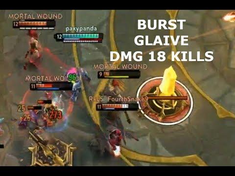 BURST GLAIVE DMG *18 KILLS* ! Vainglory 5v5
