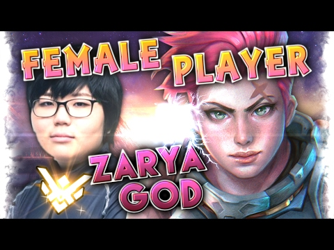 "17 Year Old Korean Female Player ""Geguri"" Zarya Master Moments Montage [79% Win Rate QP ]