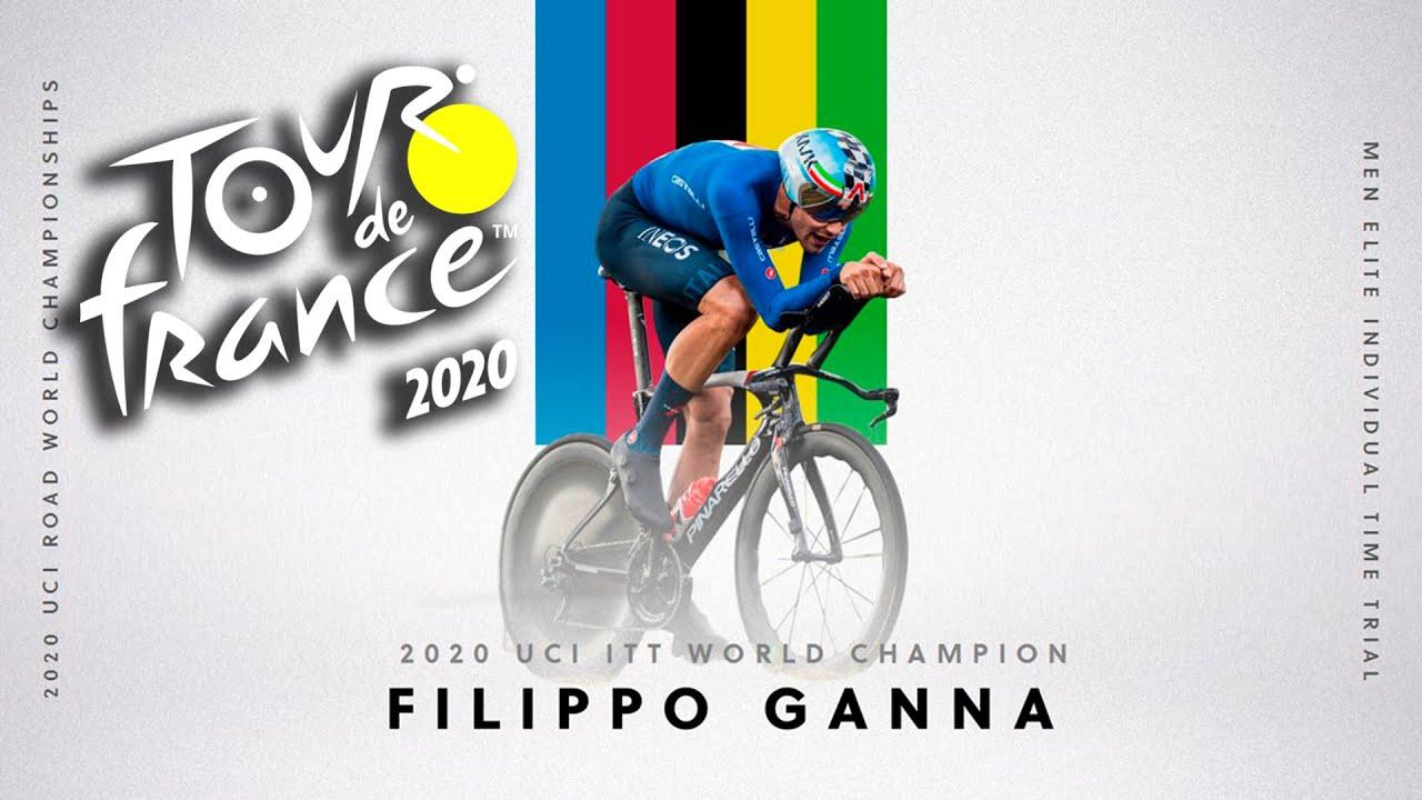 TOUR DE FRANCE 2020 Filippo Ganna, campeón del mundo de CRI VR_JUEGOS
