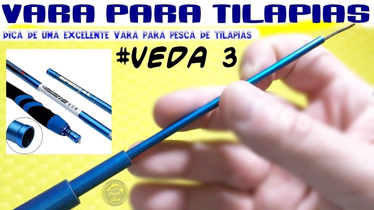 2f27f7865 Vara de Pescar Muito boa para Tilápia  VEDA 3  Pescas e Dicas  - YouTube