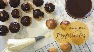 How To Make Profiteroles/Cream Puffs