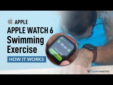 Apple Watch 6 Swimming Pool Exercise