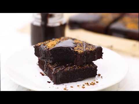 Dirty Chai Dark Chocolate Flourless Brownies