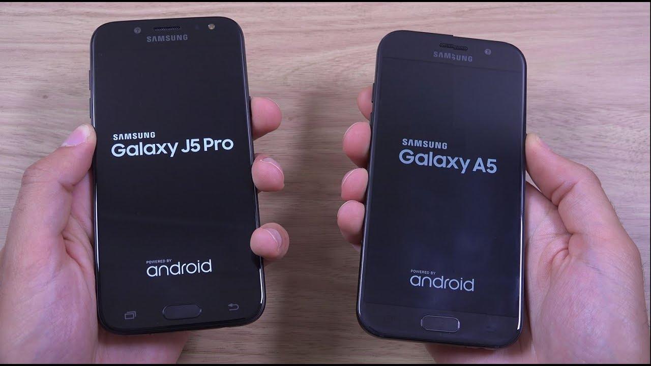 Samsung Galaxy J5 Pro 2017 vs Galaxy A5 2017 - Speed Test! - YouTube