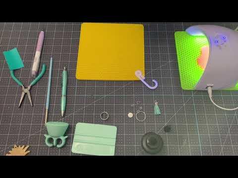 Acrylic keychain with UV resin