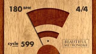 180 BPM 4/4 Wood Metronome HD