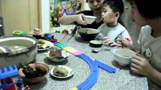 家中自製火車迴轉壽司
