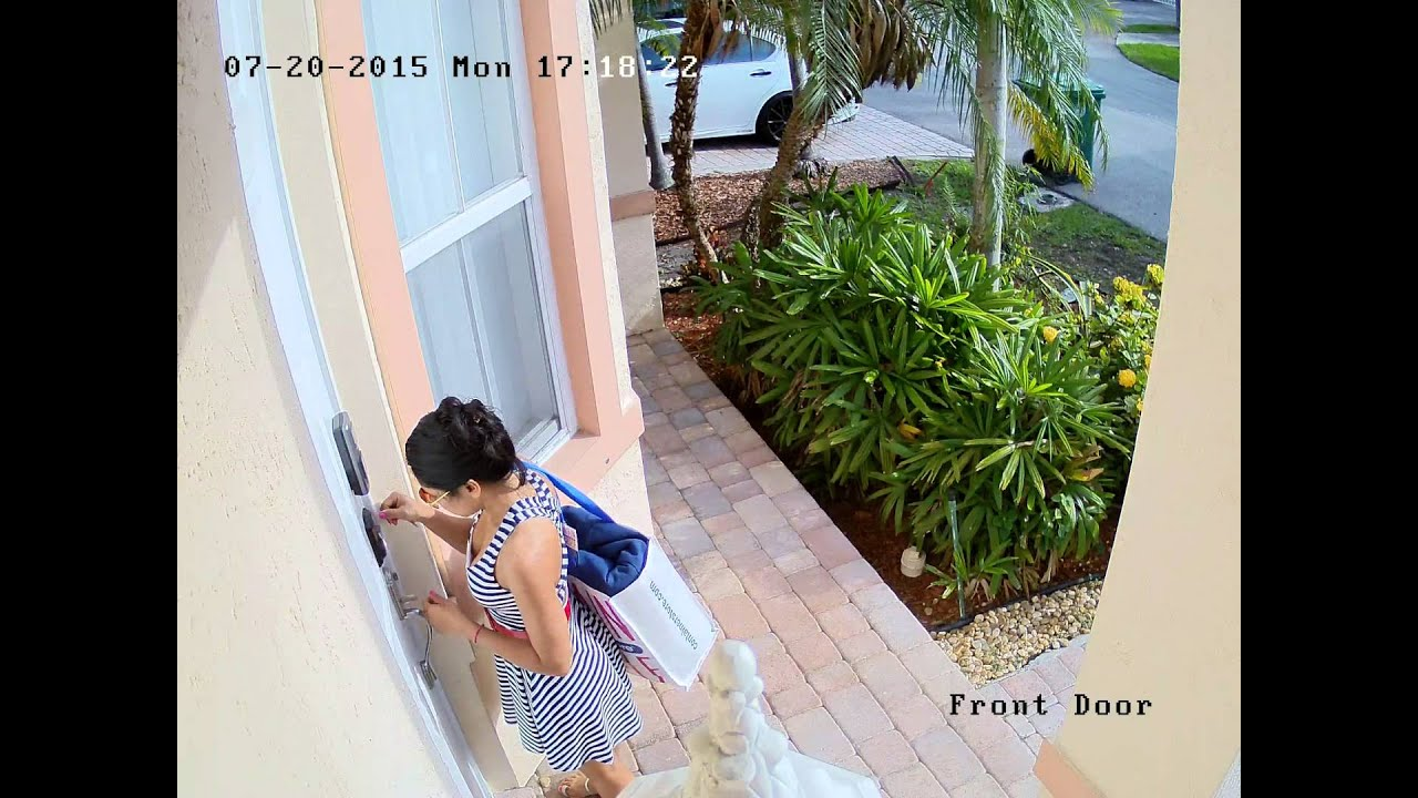Front door camera - 3mp Ip Camera Front Door Example Of Video Recording Quality 1080p And 1440p
