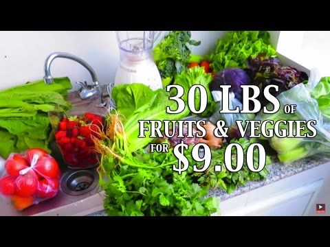 30 lbs of Fruits and Vegetables for $9 - Chiang Mai, Thailand