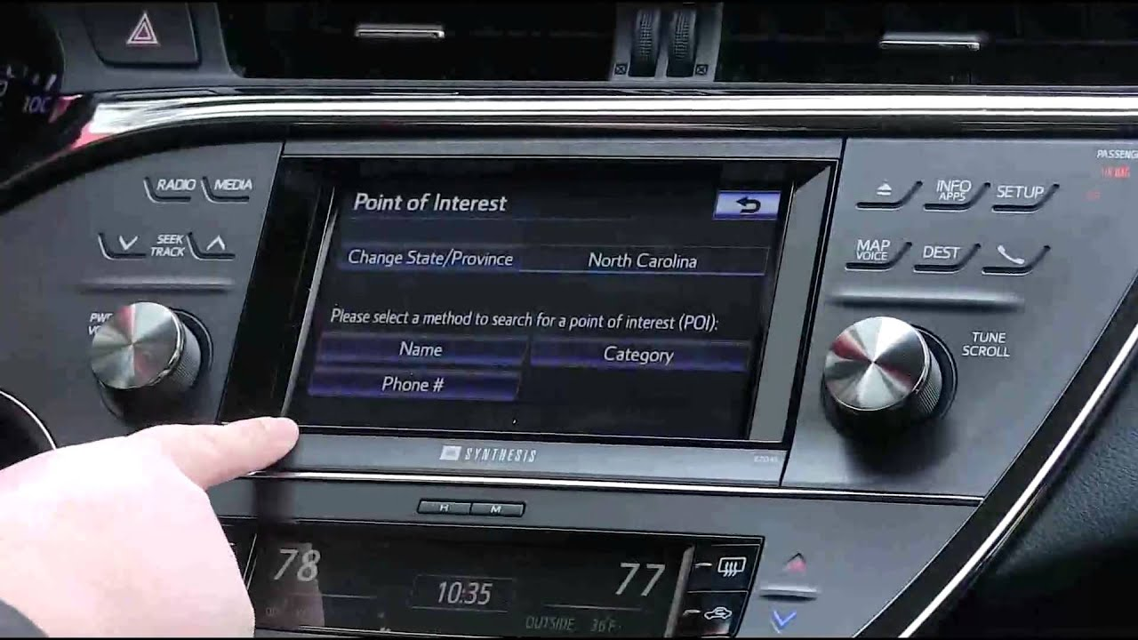 Using Gps Navigation In The All New 2014 Toyota Avalon
