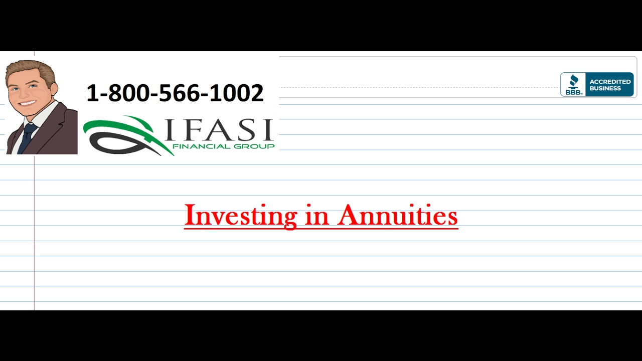 Investing In Annuities For Dummies Youtube