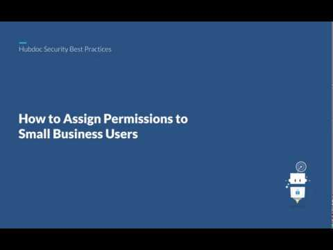 Assigning Permissions to Small Business Users on Hubdoc