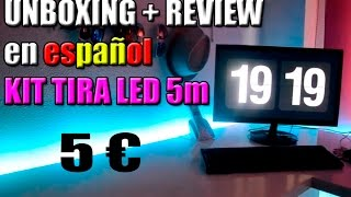 видео Tira led rgb aliexpress