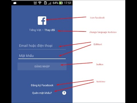 7 days programming android | Design facebook layout in Android | Android programming No.1