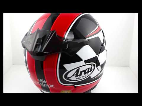 2954786c Arai Chaser-X Motorcycle Helmet FINISH Red -TheVisorShop.com - YouTube