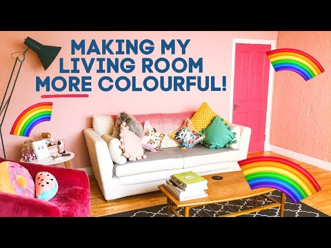 How To Make Your Living Room More Colourful // Interior Door Paint Ideas