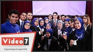 2500 طالب يحاورون رجل ألاعمال أحمد أبو هشيمة بجامعة القاهرة للتعرف على قصة نجاحه