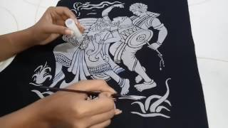 Giltter emboss painting (easy way of painting beautiful art )